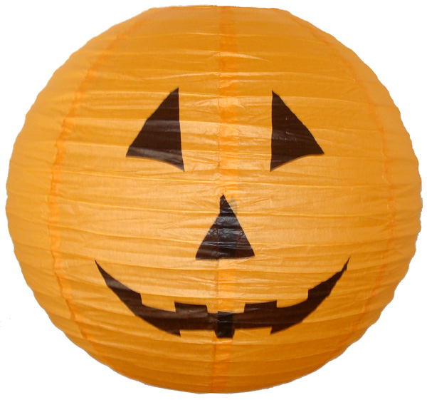 "12"" Orange Halloween Pumpkin Paper Jack-O'-Lantern"