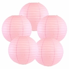"12"" Pale Pink Chinese Paper Lanterns (Set of 5, 12-inch, Pale Pink) - Premier"