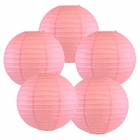 "12"" Pink Chinese Paper Lanterns (Set of 5, 12-inch, Pink) - Premier"