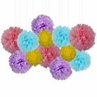 12pcs Decorative Tissue Paper Pom Poms (12pcs, Be-Hoppy) - Premier