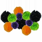 12pcs Decorative Tissue Paper Pom Poms (12pcs, Spook-Tacular) - Premier