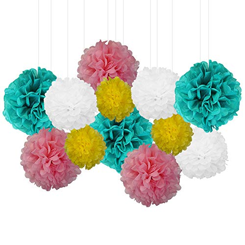 12pcs Decorative Tissue Paper Pom Poms (12pcs, Sprinkles) - Premier