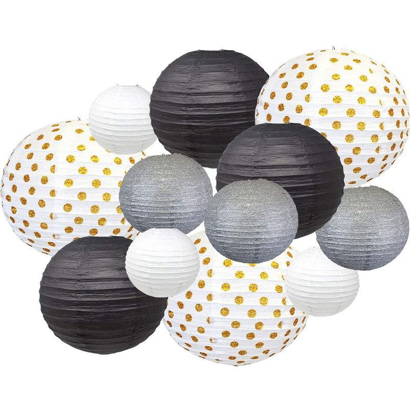 12pcs New Years Eve Party Paper Lantern Decorations (Color ...