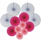 12pcs Paper Pinwheel Decorative Assorted Size/Color Pack (Baby Girl) - Premier