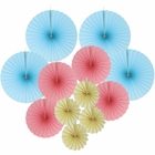12pcs Paper Pinwheel Decorative Assorted Size/Color Pack (Gender Reveal) - Premier
