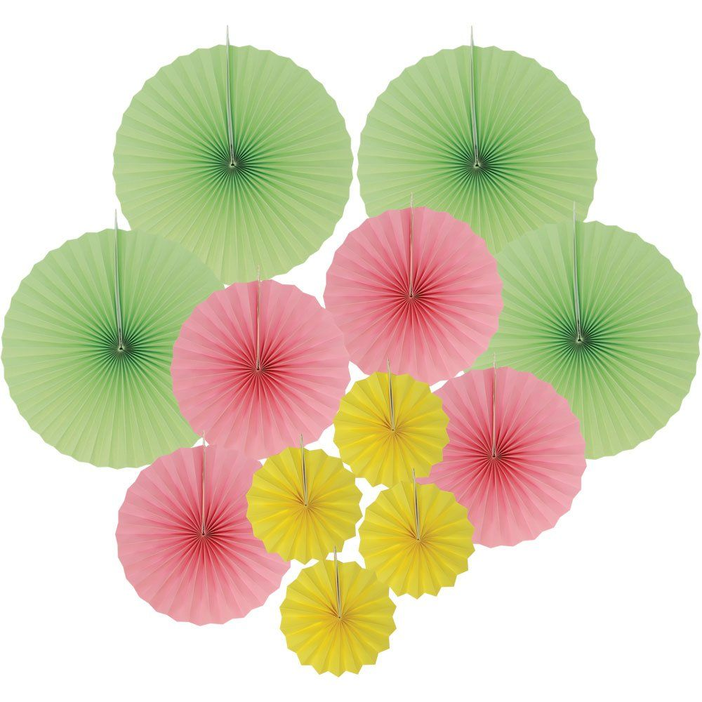 12pcs Paper Pinwheel Decorative Assorted Size/Color Pack (Spring) - Premier