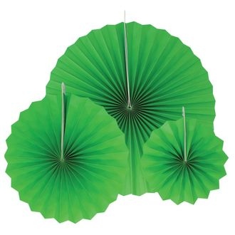 12pcs Paper Pinwheel Decorative Assorted Size Pack (Green) - Premier