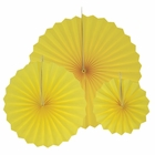 12pcs Paper Pinwheel Decorative Assorted Size Pack (Lemon Yellow) - Premier