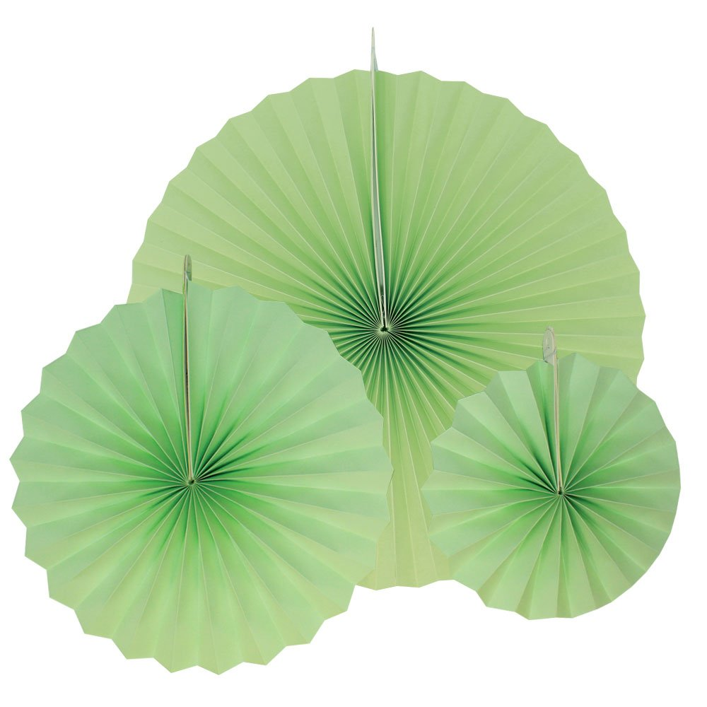 12pcs Paper Pinwheel Decorative Assorted Size Pack (Mint) - Premier