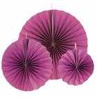 12pcs Paper Pinwheel Decorative Assorted Size Pack (Plum) - Premier