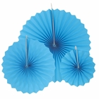 12pcs Paper Pinwheel Decorative Assorted Size Pack (Powder Blue) - Premier