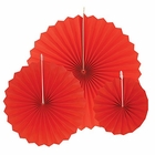 12pcs Paper Pinwheel Decorative Assorted Size Pack (Red) - Premier