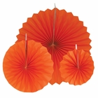 12pcs Paper Pinwheel Decorative Assorted Size Pack (Tangerine) - Premier