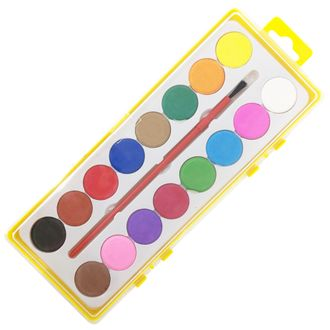 16 Assorted Color Watercolor Paint Tray