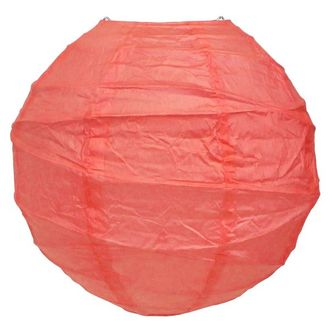 16inch Free Style Paper Lantern Coral