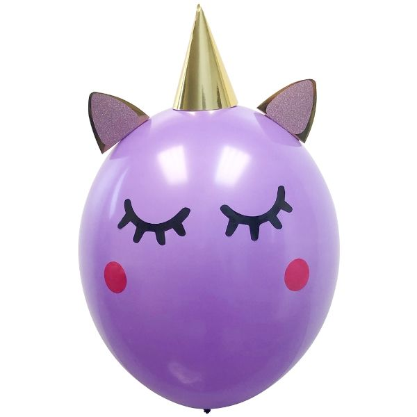 "18"" Latex Balloon 1pcs Purple Unicorn"