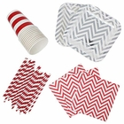 182pcs Graduation Tableware Set (Color: Red & White) - Premier