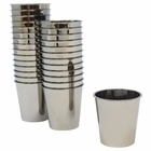 1oz Plastic Shot Glasses 120pcs Solid Metallic Dark Silver - Premier