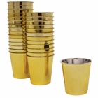 1oz Plastic Shot Glasses 120pcs Solid Metallic Gold - Premier