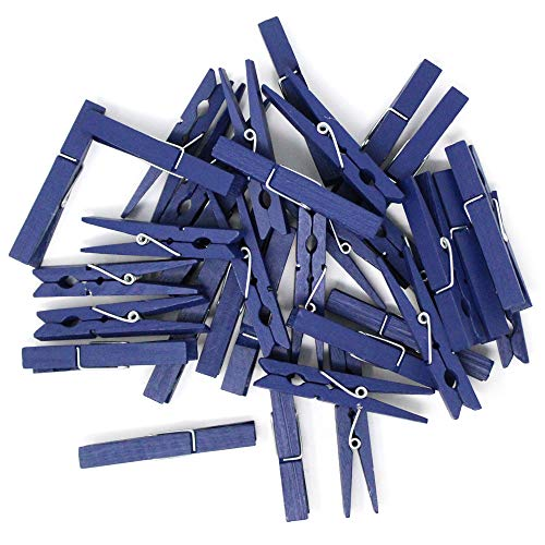 2.75-inch Craft Wood Clothespins/Peg Pins (100pc, Navy Blue) - Premier