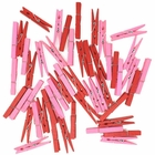 2.75-inch Craft Wood Clothespins/Peg Pins (100pcs, Red & Baby Pink) - Premier