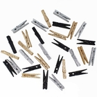 2-inch Glitter Craft Wood Clothespins/Peg Pins (144pcs, Black, Silver, Champagne) - Premier
