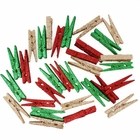 2-inch Glitter Craft Wood Clothespins/Peg Pins (144pcs, Red, Champagne, Green) - Premier
