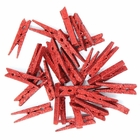 2-inch Glitter Craft Wood Clothespins/Peg Pins (48pc, Red Glitter) - Premier