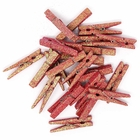 2-inch Glitter Craft Wood Clothespins/Peg Pins (48pc, Rose Pink Glitter) - Premier