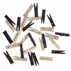 2-inch Glitter Craft Wood Clothespins/Peg Pins (96pcs, Champagne & Black) - Premier