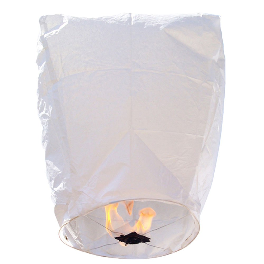 20 Eclipse White Premium ECO Wire-Free Flying Sky (Floating) Lanterns  - Premier