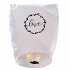 "20 ECO Wire-Free Flying Chinese Sky Lanterns (Set of 20, Wire-Free Eclipse,""Love Wreath"") - Premier"