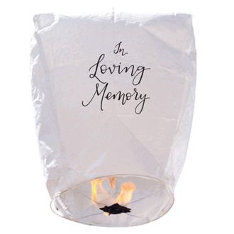 """20 ECO Wire-Free Memorial Flying Chinese Sky Lanterns (Set of 20, Wire-Free Eclipse,""""in Loving Memory"""") - Premier"""