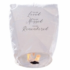 "20 ECO Wire-Free Memorial Flying Chinese Sky Lanterns (Set of 20, Wire-Free Eclipse,""Loved Missed Remembered"") - Premier"