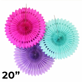"20"" Solid Color Tissue Fans"