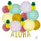 22pcs Tropical Beach Aloha Paper Lantern Hanging Kit - Premier