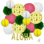 23pcs Grass Skirt Aloha Paper Lantern Hanging Kit - Premier