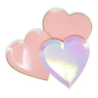 24pcs Assorted Heart Shaped 7-Inch Party Paper Plates - Premier