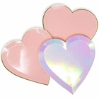 24pcs Assorted Heart Shaped 9-Inch Party Paper Plates - Premier