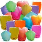 25 Eco Wire-Free Assorted Color/Shape Chinese Sky Lanterns