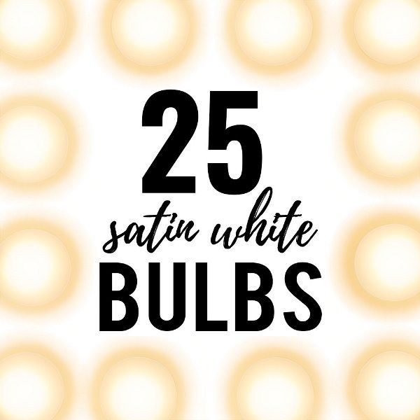 25 Satin White Globe String Light Bulbs 405W