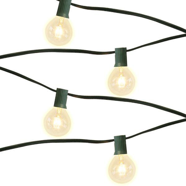 25 Socket 24ft 7in Green Globe String Lights with 405W Bulbs