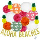 29pcs Surfs Up Aloha Beaches Paper Lantern Hanging Kit - Premier