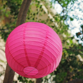 "3"" Flamingo Pink Mini Paper Lanterns 10pcs"