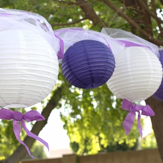 "3"" Grape Mini Paper Lanterns 10pcs"