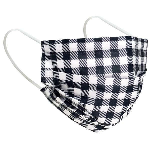 CLEARANCE 3 Layer Disposable Face Mask Buffalo Plaid 10pcs