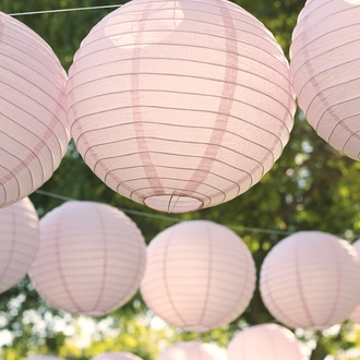 "3"" Pale Pink Mini Paper Lanterns 10pcs"