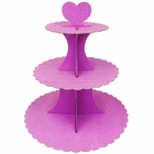 3-Tier Cupcake Stand Glitter Pink