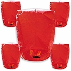 30pcs ECO Wire-Free Flying Chinese Sky Lanterns (Set of 30, Eclipse, Red) - Premier