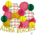 30pcs Luau Aloha Beaches Paper Lantern Hanging Kit - Premier